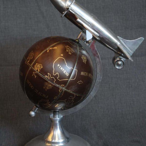 Vendita mappamondi antichi, Mappamondo aeroplano, Vendita mappamondo stile antico - Mappamondo Airplane