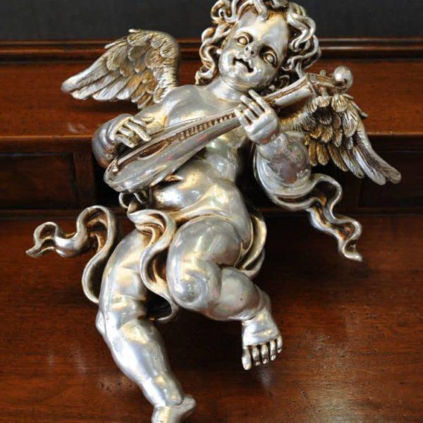 Statuetta d'angelo in Resina - Angelo Mandolino - Statue di angeli