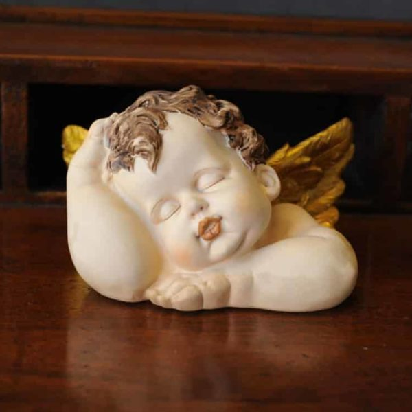 Statuetta d'angelo in Resina - Angelo paffuto - Statue di angeli