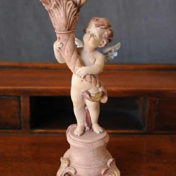 Statuetta d'angelo in Resina - Angelo Rose - Statue di angeli