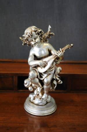 Statuetta d'angelo in Resina - Angelo Pedestal - Statue di angeli