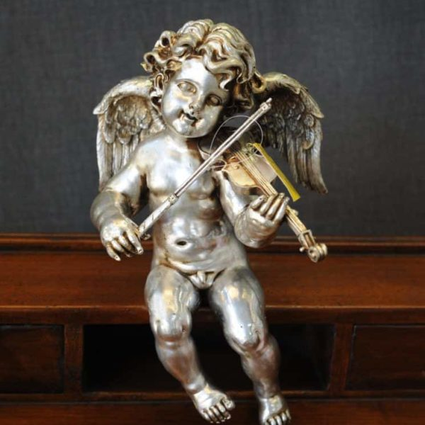 Statuetta d'angelo in Resina - Angelo Silver - Statue di angeli