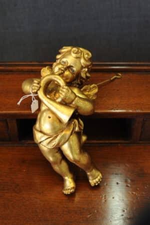 Statuetta d'angelo in Resina - Angioletto Corno - Statue di angeli