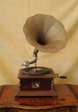 Grammofono in stile antico