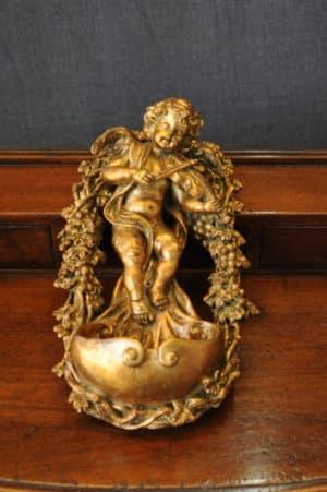 Statuetta d'angelo in Resina - Angelo Acquasantiera - Statue di angeli
