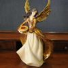 Statuetta d'angelo in Resina - Donna portacandela- Statue di angeli